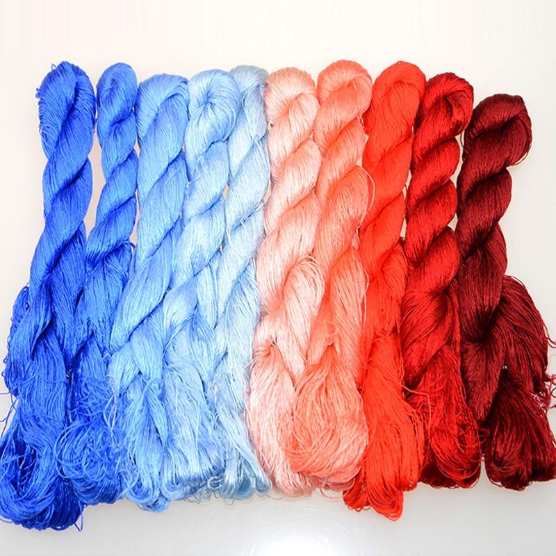 400m silk embroidery / 100% silk thread / Spiraea embroide silk thread   small sticks of hand embroidery embroider  cross stitch|silk thread|threading thread|embroidery silk thread - AliExpress