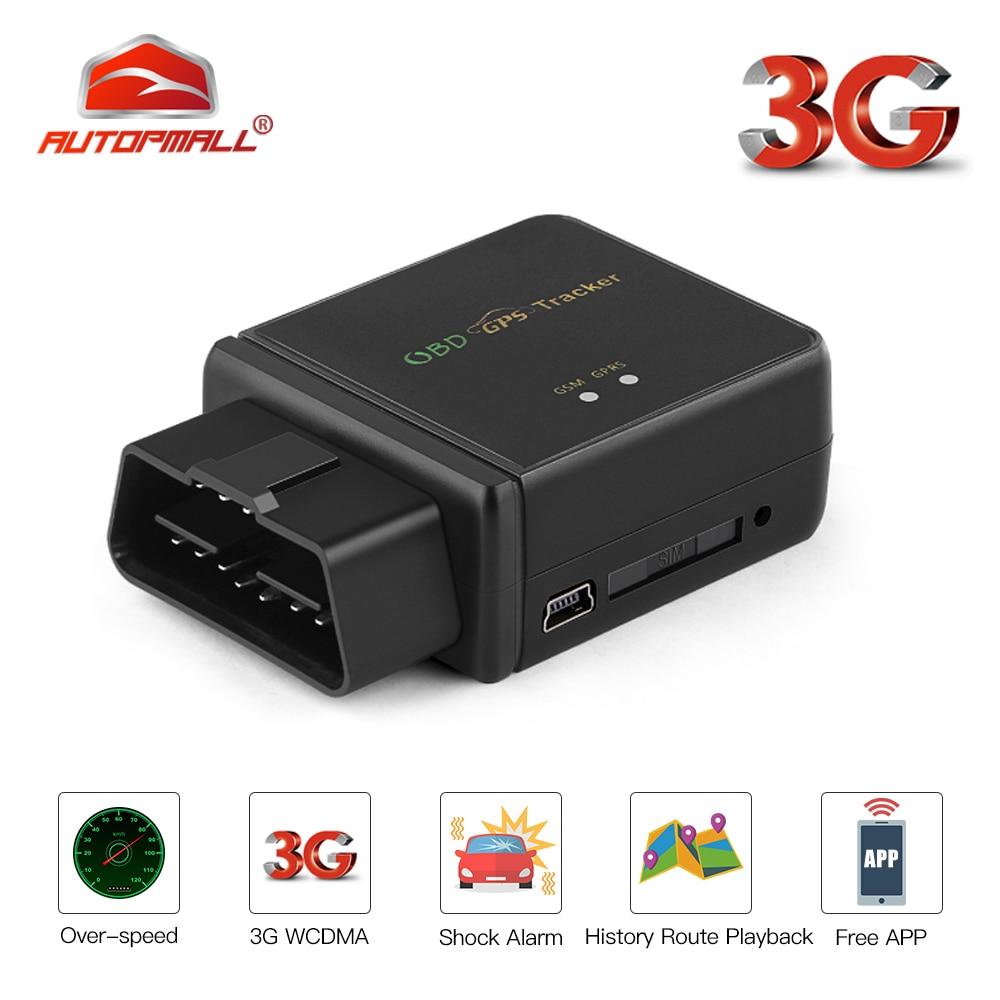 3G GPS Tracker OBD 9 45V Plug Out Alarm Voice Monitor OBD2 GPS Tracker Car Overspeed Vibrate Alert Geofence Free APP Rastreador