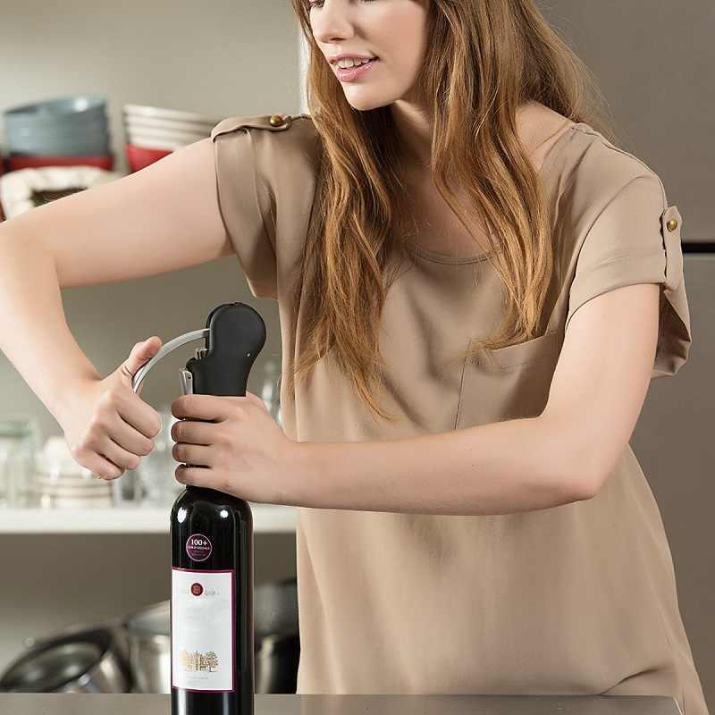 Sacacorchos de palanca de barra con sacacorchos y sacacorchos kit de accesorios de cocina juego de herramientas para vino y cortador de botellas