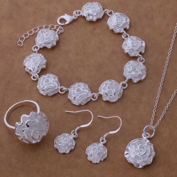 Earrings Necklace Bracelet Jewelry High-Quality Silver Wholesale Fashion WT-196