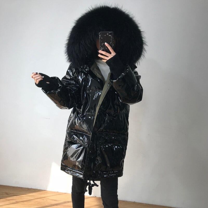 Real Raccoon Fur 2019 -30 Degree Winter Jacket Women Long Down Parka Thick Duck Down Jacket Female Waterproof Hooded Down Coat