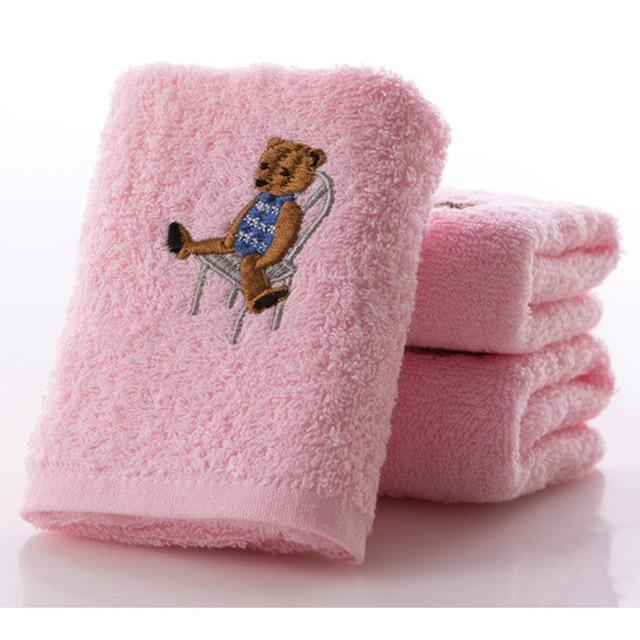1 toalla de oso de algodón de microfibra suave bebé recién nacido paño de baño paño de alimentación 50*26 cm
