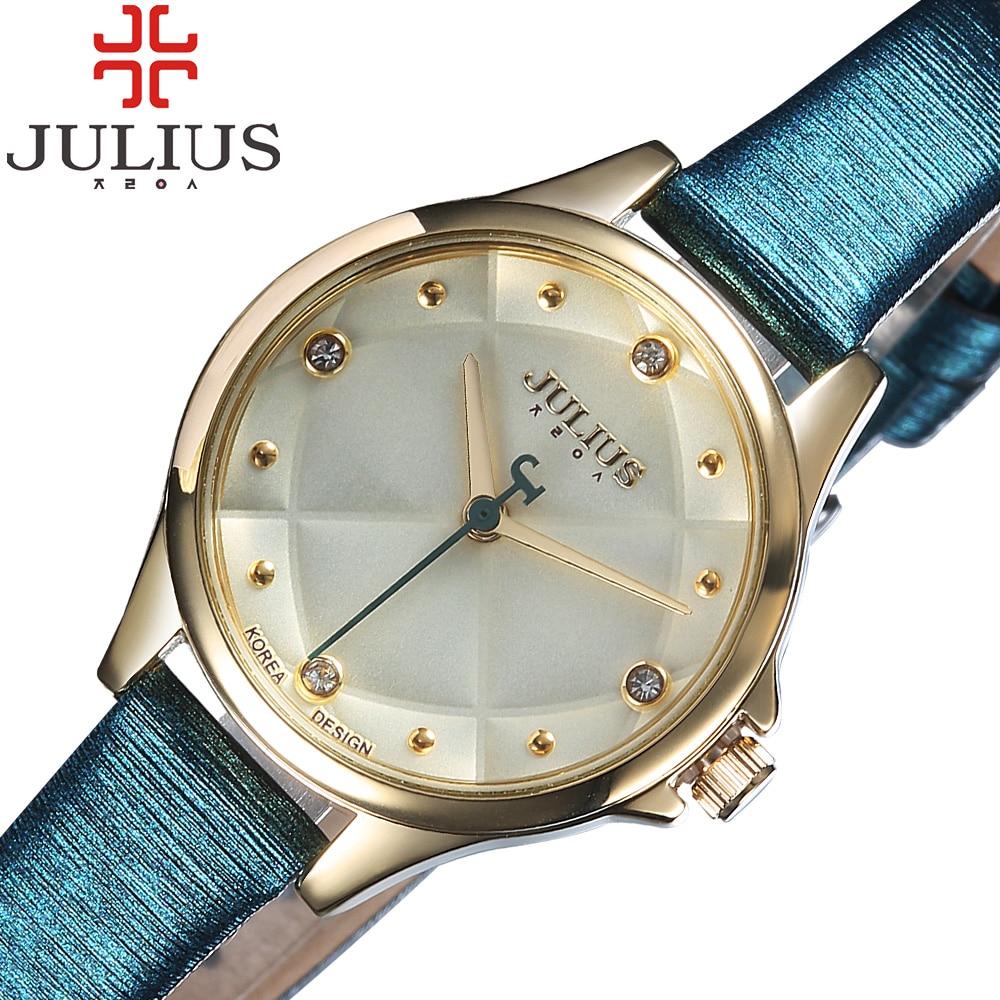 JULIUS Brand Luxury Gold Watch Women Clock Thin Strap Female Dress Wristwatch Girl Student Quartz Watches Relogio Reloj Mujer