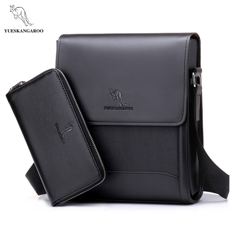цена на YUES KANGAROO Men Bags Hot Male Small Messenger Bag Man Fashion Leather Crossbody Shoulder Bag Men's Travel New Bag