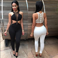 2016 New Fashion Hot Sale Autumn Spring Sexy Jumpsuit Women Bodycon Bodysuit Long vestidos Club Wear Overalls Sexy Playsuits