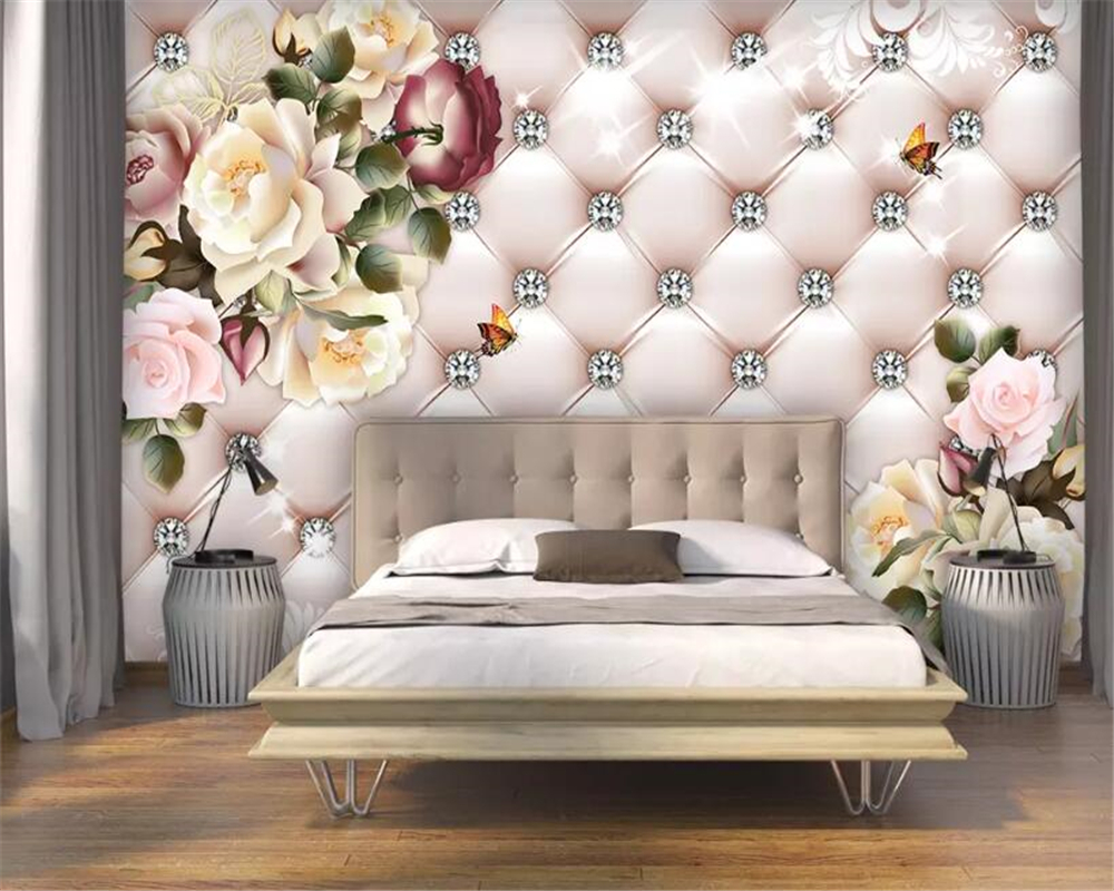 Prezzi per tinteggiature a roma · pittura a base calce 7,00 € / mq · tinteggiatura ai silicati 6,50 € / mq · tinteggiatura silosanica 6,00 € / mq · tinteggiatura. Beibehang Custom Wallpaper Vintage Flower Pattern Diamond Soft Pack Tv Background Wall Wall Papers Home Decor Carta Da Parati Buy At The Price Of 9 45 In Aliexpress Com Imall Com
