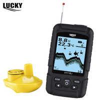 LUCKY FF718Li-W, портативный рыболокатор, беспроводной, 180 м, 90 градусов, эхолот, многоязычный, 45 м, сигнализация глубины рыбы, эхолот