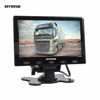 DIYSECUR 7 Inch LCD Touch Button Ultra Thin Screen Car Rear View Monitor Remote Control For