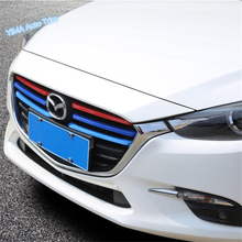 Lapetus Car Styling Colorful Front Grille Grill Decoration Strip Cover Trim ABS Fit For Mazda 3 AXELA Hatchback Sedan 2017 2018