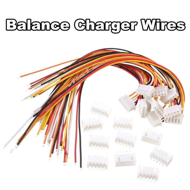 10Pcs 4S1P Balance Charger Silicon Cable Wire JST XH Connector Male+ ...