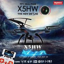 Syma x5hw wifi fpv zangão com 2.0mp hd câmera 360 eversion cf modo hover função rc quadcopter