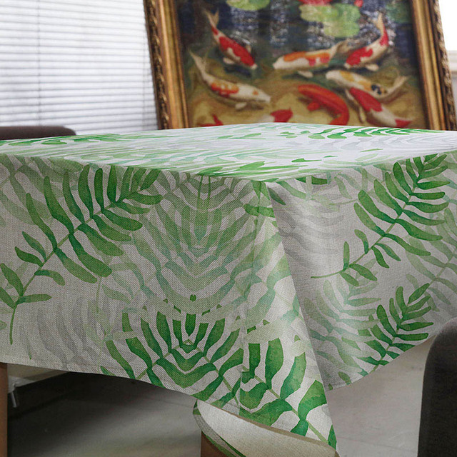 Nueva caliente venta simple creativo hoja verde diseño mantel casa ...
