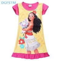 2017 Summer Moana Dresses For Girls Princess Birthday Party Dress Children Elsa Anna Trolls Costume Kids