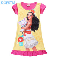 2017 Summer Moana Dresses For Girls Princess Birthday Party Dress Children Elsa Anna Trolls Costume Kids