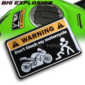 For Kawasaki NINJA Yamaha Honda Suzuki KTM Ducati MONSTER KTM 3D warning sticker do not touch the sticker cover of my motorcycle(China)