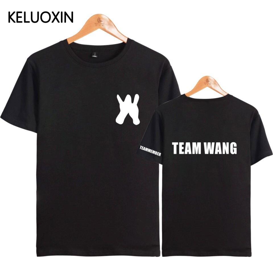 KELUOXIN Kpop GOT7 Jackson T-shirt Women Men Team Wang Letter Print The Same T Shirt Fans Group Style Short Sleeve Cotton Tops(China)