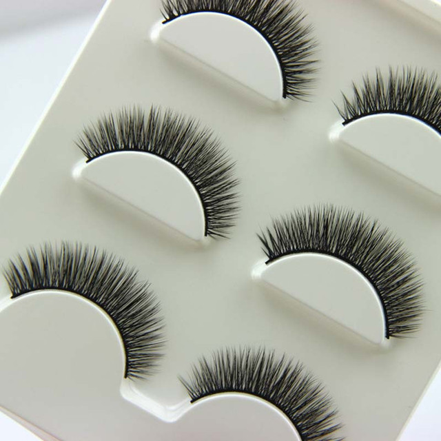 567da0f145e High Quality 3 pairs /set 3D Cross Thick False Eye Lashes Extension Makeup  Super Natural