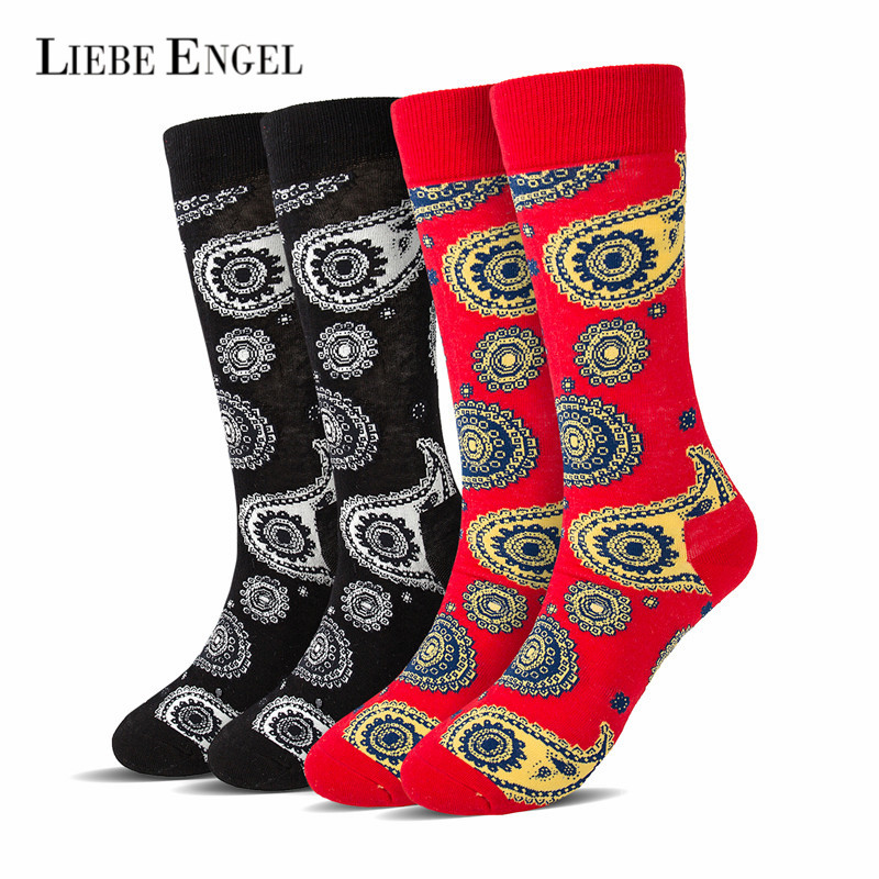 LIEBE ENGEL Funny Jacquard Socks Set Women Comfortable Cotton Spring Winter Happy Socks Chaussette Femme meias