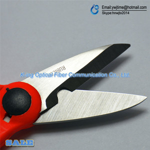 Image 4 - Japan 1PCS RUBICON Brand RCZ 527 non slip plastic handle optical fiber scissors especially used for Kevlar lines cutting