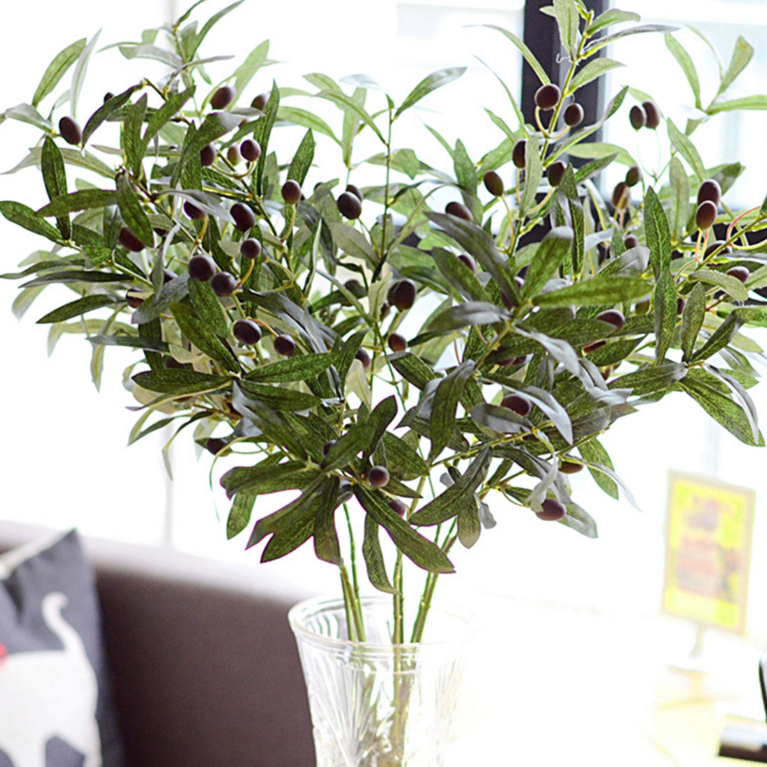 Gift Olive Leaf 72cm Vivid Artificial Flowers Plant Home and Garden Decoration Gift