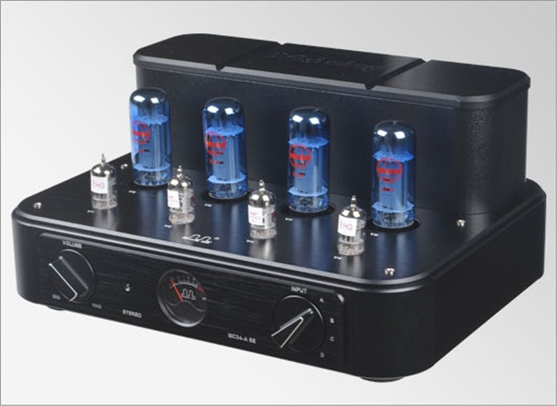MEIXING MINGDA MC34-ASE Vacuum Tube integrated Amplifier EL34*4 Class AB1 push-pull power Amplifier 40W*2 110V/220V music hall latest muzishare x7 push pull stereo kt88 valve tube integrated amplifier phono preamp 45w 2 power amp