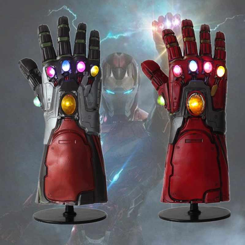 LED Iron Man Infinity Gauntlet Avengers 4 Endgame LED Tony Stark Iron Man Gauntlet Cosplay Thanos Gloves Cosplay Accessory Props