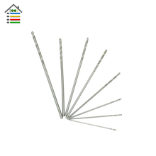 8pcs HSS Micro Twist Drill Bits Mini Set Metric Sizes 0.3 0.4 0.5 0.6 0.7 0.8 0.9 1.0 mm For Dremel Grinder Wood Drilling