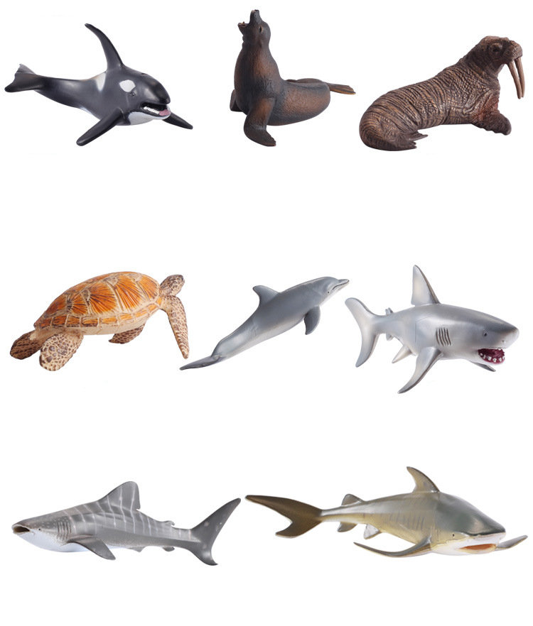 Punctual 1pcs Simulation Seabed Animal Model White Shark Whale Shark Sea Lion Poster Animal Pvc Collectible Toys Christmas Gift Kids Beneficial To Essential Medulla Toys & Hobbies