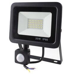 Светодиодный прожектор с датчиком движения, 10 Вт, 20 Вт, 30 Вт, 50 Вт, водонепроницаемый, IP66, 220 В, 230 В