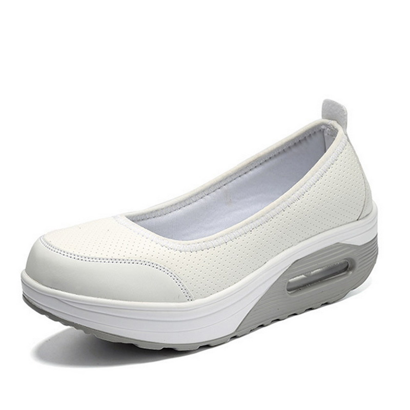 LAAMEI Women Loafers Plus Size Platform Slip On White Flat Shoes Casual Nurse Shoe For Female Moccasins Footwear Plus Size 42 34 43 big small size new 2016 summer fashion casual shoes moccasins bottom shoe platform flat for women s loafers ladies