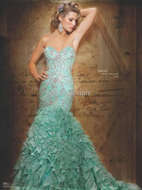 Wholesale - Full refund Guarantee!2012 Sweetheart Elegant Beaded Sequins Original Picture Prom Dresses HSE01