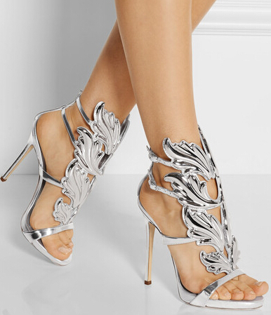 Aliexpress.com : Buy NEW 2015 Gladiator Heels Silver Leaf Women ...