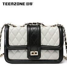 Brand Teemzone 2016 Women Genuine Leather Handbag Messenger Bag Women's Shoulder Bags Ladies Fashion Large Capacity Tote Bag