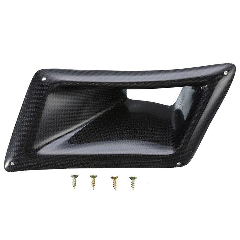 1 Pc fibre de carbone flux d'air conduit d'admission côté gauche pour Nissan 350Z Z33 2003-2009 garde-boue trou couverture voiture décoration autocollant - 3