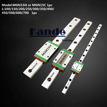 цены MGN15 CNC 15mm miniature linear rail guide  MGN15C L100 - 600 mm MGN15H linear block carriage or MGN15H narrow carriage