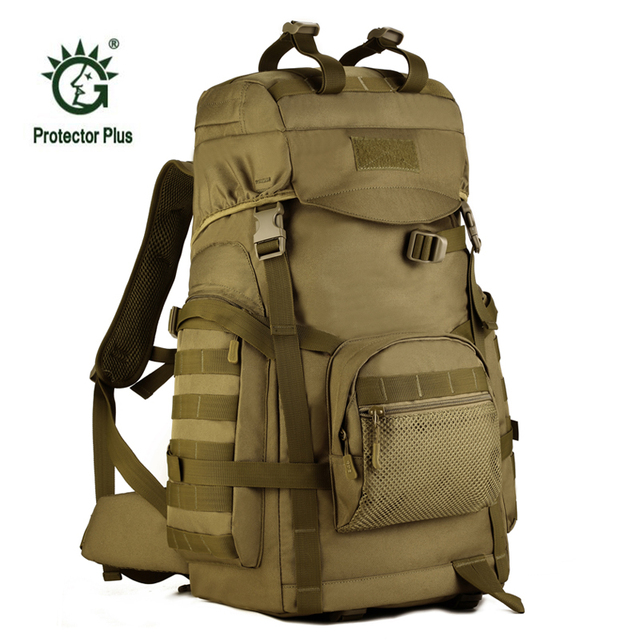 Large Capacity 60L Army Fans Tactics Backpacks Outdoor Sport Climbing Bags  New Waterproof Assault Travel Military Rucksack S070 5ff6ccc82bbf3