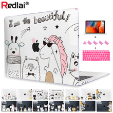 Redlai Case For MacBook Air 11 13 inch Pro Retina 12 13.3 15.4 2018 Touch bar Laptop Cute Animal Hard Shell Cover