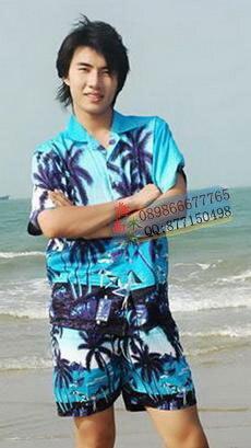 Бесплатная доставка пляжная одежда рубашка униформы персонала повседневная  одежда комплект гавайи рубашки 2XL 3XL 972d1cd22d4