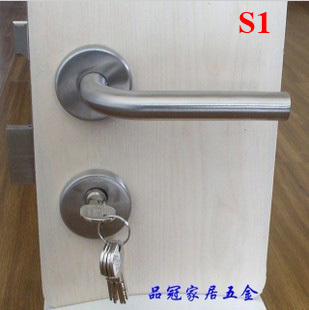 Stainless steel 304 door handle lock 304 stainless steel door lock with door handle cylinder and lockbody
