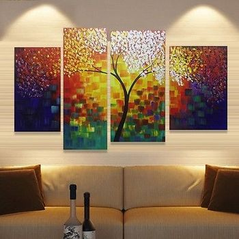 """HUGE MODERN ABSTRACT WALL DECOR ART OIL PAINTING ON CANVAS""""no frame"""""""