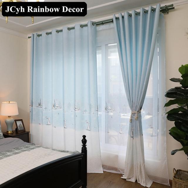 Blu tende fumetto finestra tende oscuranti giapponese - Tende per sopra il letto ...