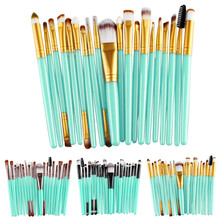 Professional 20 pcs Makeup Brush Set tools Make-up Toiletry Kit Wool Make Up Brush Set Case Cosmetic Foundation Brush