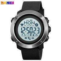SKMEI Outdoor Sport Smart Men Watch Compass Heart Rate Male Digital Clock Bluetooth Fitness Waterproof Wristwatch inteligent