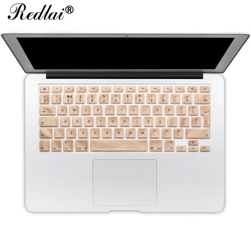 For Apple Macbook Air 13 Inch Keyboard Cover Film Translucent EU English Alphabet Silicone Keyboard Cover