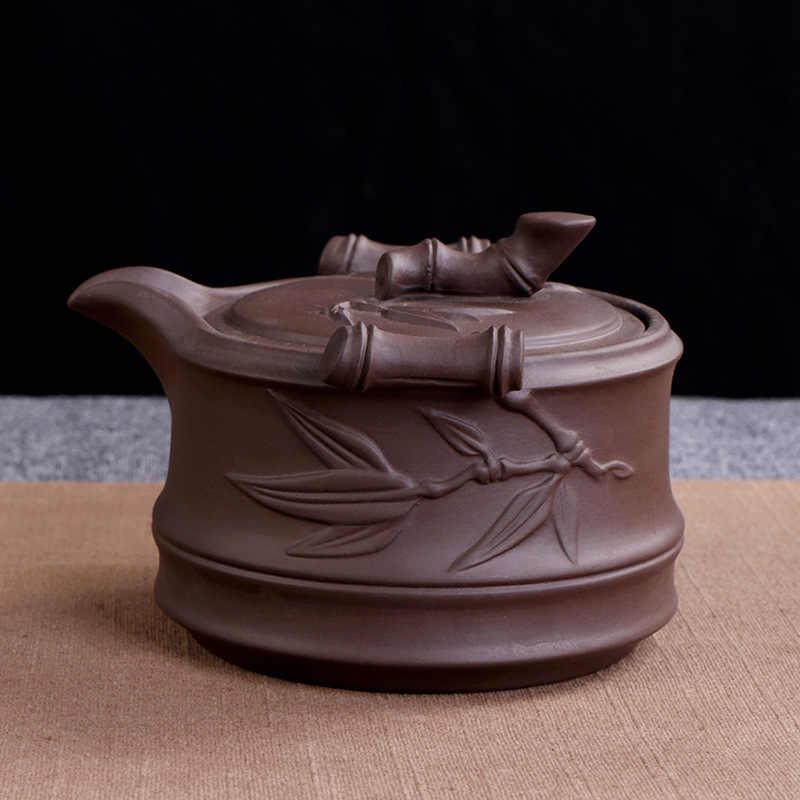 Outdoor Camp Portable Quick Cup chińskie tradycyjne ceramiczne Yixing purpurowa glina 1 czajniczek 2 kubki z 1 taca bambusowa 1 torba podróżna