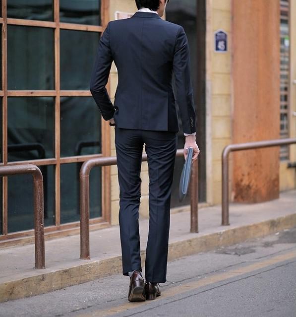 2015 Custom new style High quality Black Men\'s suits wedding ...