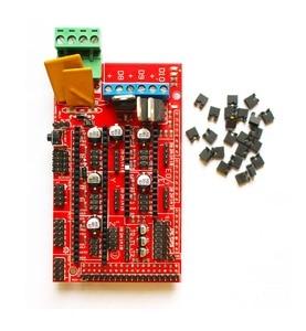 Image 4 - Kit de impresora 3D CNC para Arduino Mega 2560 R3 + controlador rampas 1,4 + LCD 12864 + 6 interruptor de límite Endstop + 5 controlador paso a paso A4988