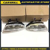 Pair Front Fog Light Lamp Housing Assembly L R For Mercedes Benz ML320 ML350 ML430 ML500 1638200328 1638200428