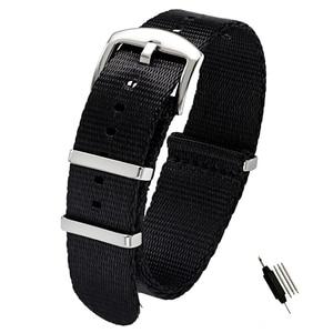 Image 3 - 20mm 22mm Seat Belt Nylon NATO Zulu Strap Heavy Duty Military Watch Band Replacement Watch Straps Black Blue Grey James Bond