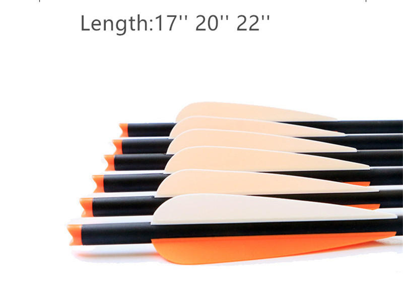 6/12/24Pcs Target Hunting Arrows Crossbow Bolt  Length 17''/20''/22'' Crossbow Carbon Arrow